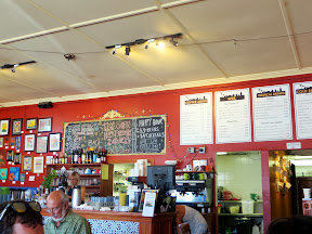 The atmosphere of Cafe Mambo in Paia, Maui