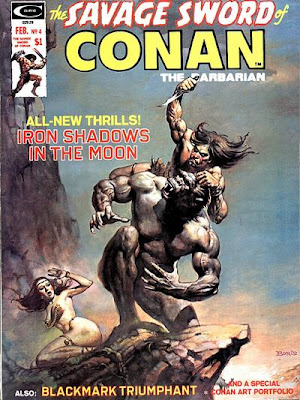 Savage Sword of Conan #4, January by Pilot and Angie Baby by Helen Reddy