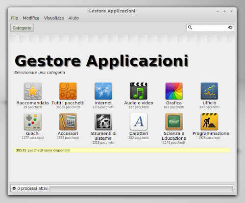 Linux Mint 13 Maya - Gestore applicazioni