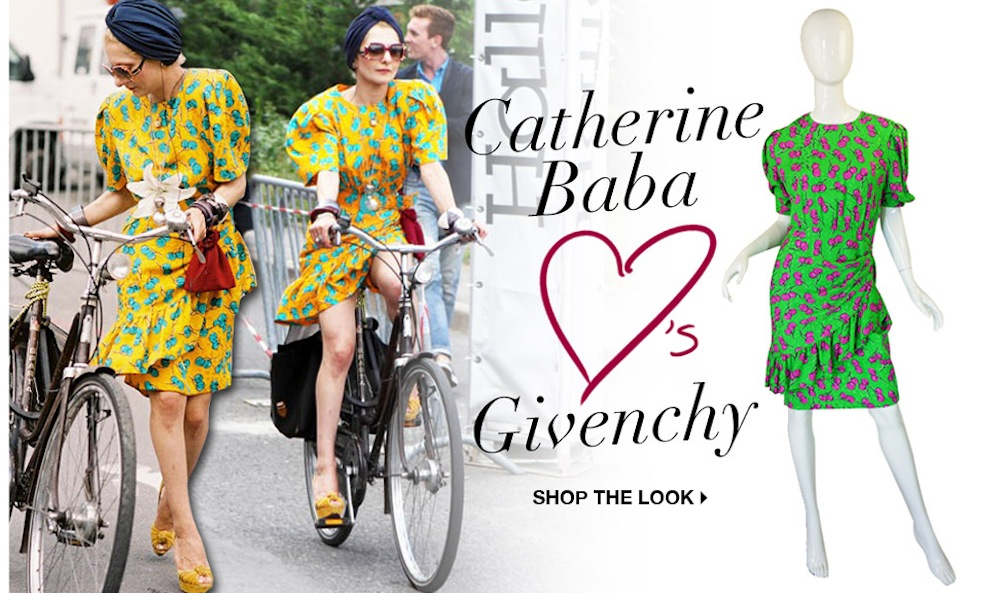 Shop the Look [Catherine Baba in the Yellow Version of our Givenchy!]