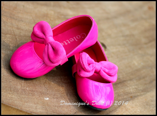 Tiger girl's favourite pink shoes