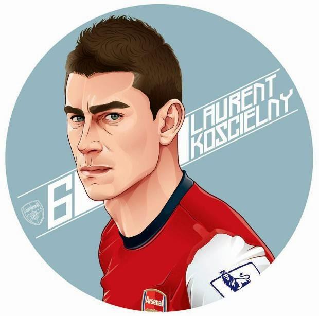 Bộ ảnh hoạt hình cực đẹp của dàn sao Arsenal