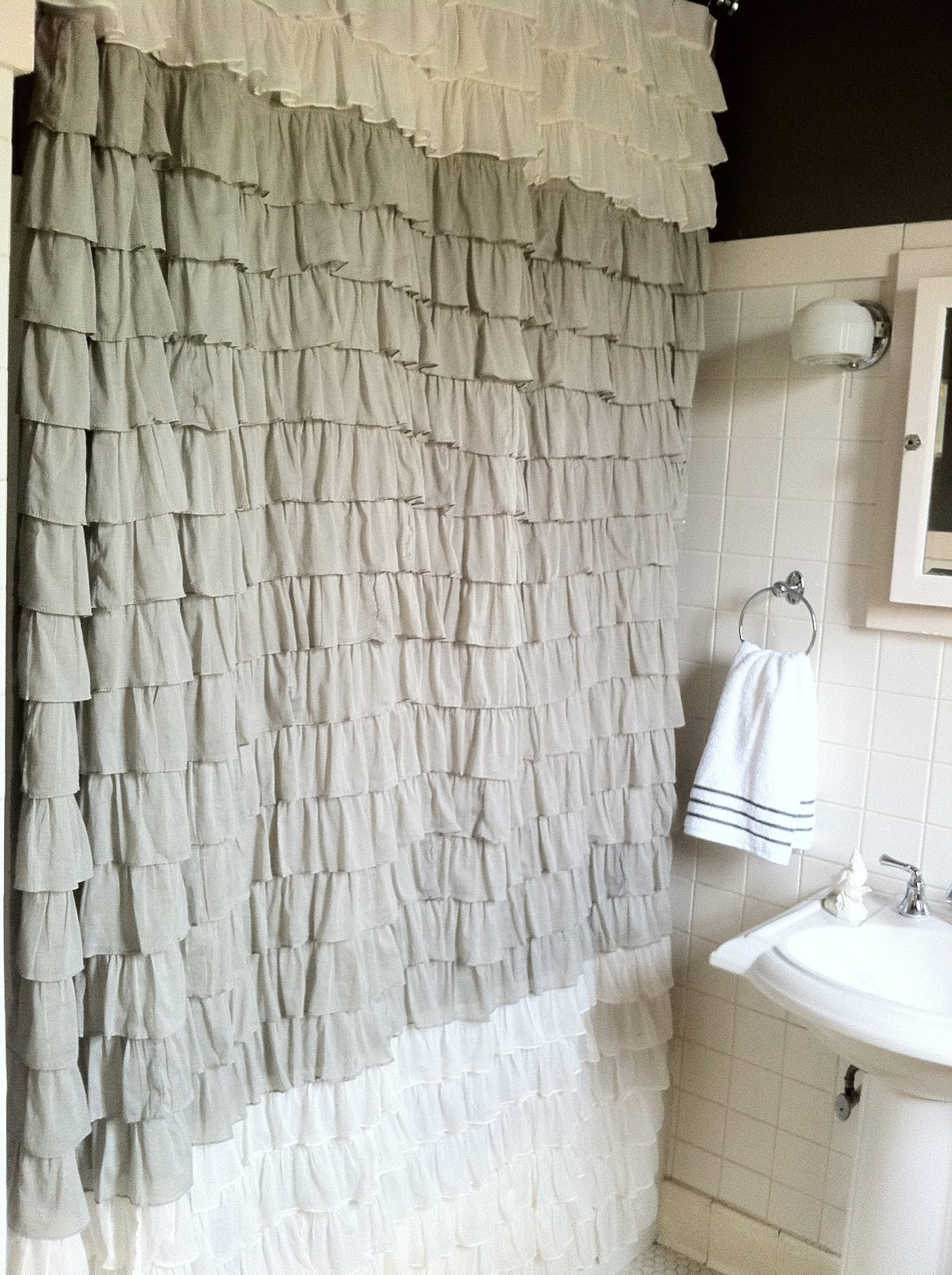 Ruffle shower curtain - Ruffle Shower Curtain Revised