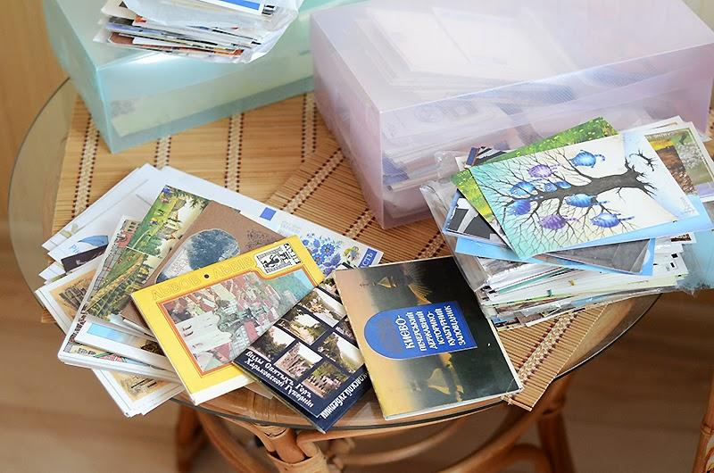 Днем, хранение открыток посткроссинга