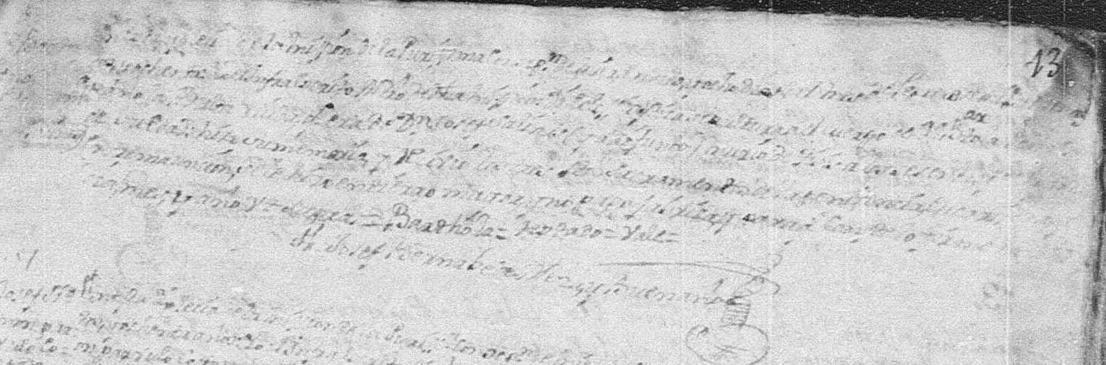 Death Record of Maria Bartola Pena Mier 1780