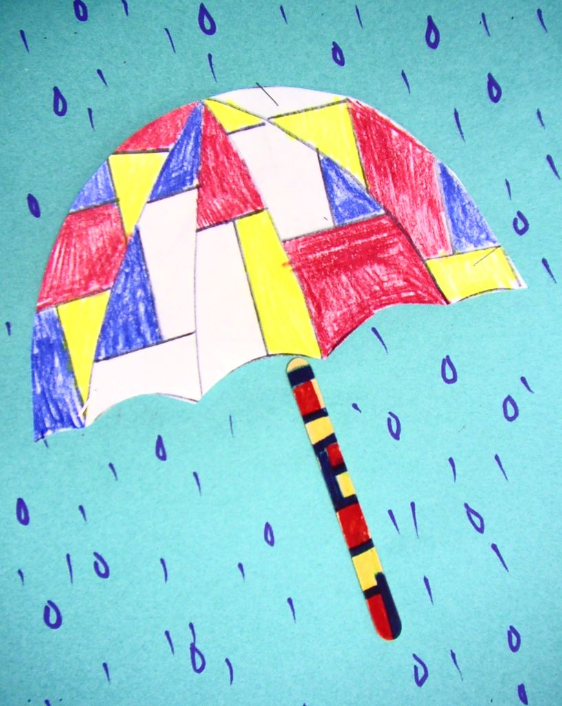 Umbrella Craft Ideas For Kids Part - 32: ... Inspired By A Lesson I Saw On Art Projects For Kids, Posted From Blue  Moon Palette, Http://bluemoonpalette.blogspot.com/2010/09/mondrian-umbrella .html
