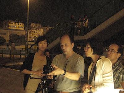 於晚上到街道作實習夜景攝影