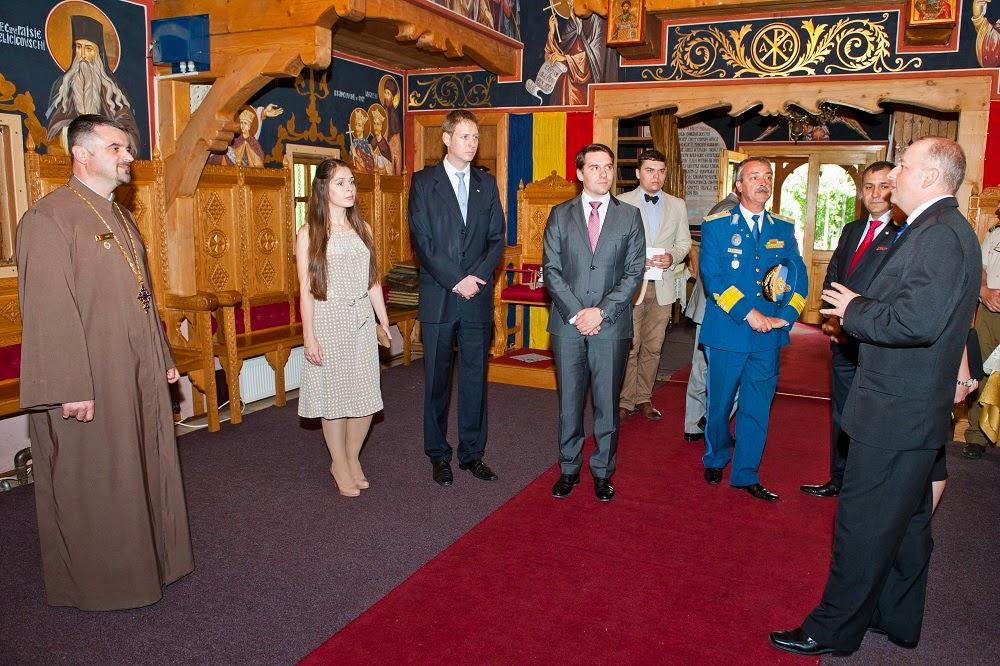 Principele Leka al II-lea al Albaniei a vizitat Universitatea Națională de Apărare Carol I