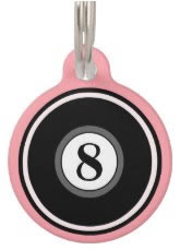 Pink Custom Dog ID Tag