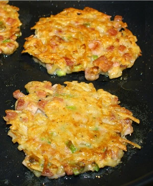 Receta de Tortitas de jamón y patata