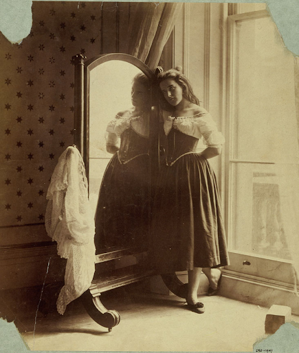 Clementina Maude, In Underclothes, photography by Lady Clementina Hawarden, about 1862-3.