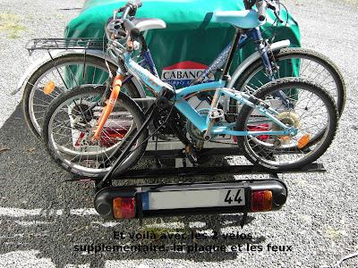 Transport de 5 vélos sur la Mercury 7