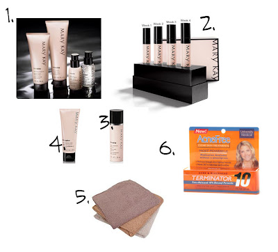Mary Kay products and other cleansing items