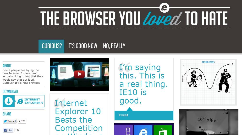 Microsoft Admits IE Internet Explorer Sucks In New Ad