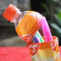 Membuat Tempat Pensil dari Botol Plastik dan Gulungan Tisu