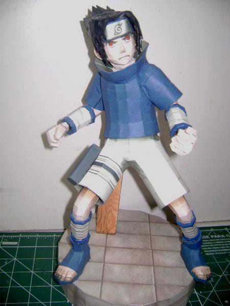 Naruto Papercraft Sasuke Uchiha