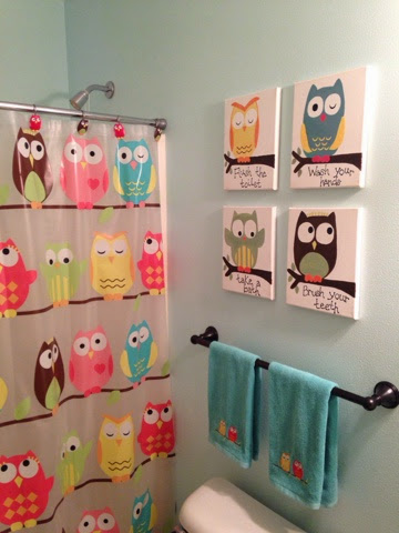 Owl Trageously Cute Kids Bathroom Thrifty Artsy Girl
