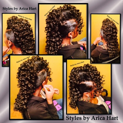Mohawk hair styles in an Aiken, SC hair salon | hair stylist - Arica Hart