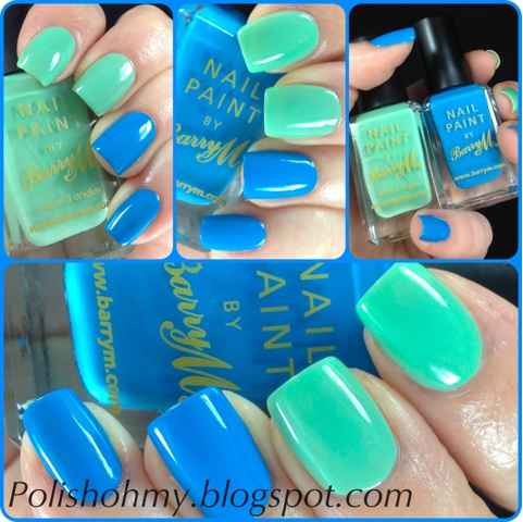 Barry M. 'Mint Green' & 'Cyan Blue'