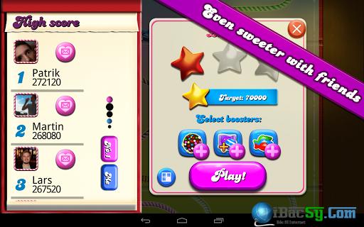 hinh 3 candy crush saga trên Iphone 6 và 6 plus