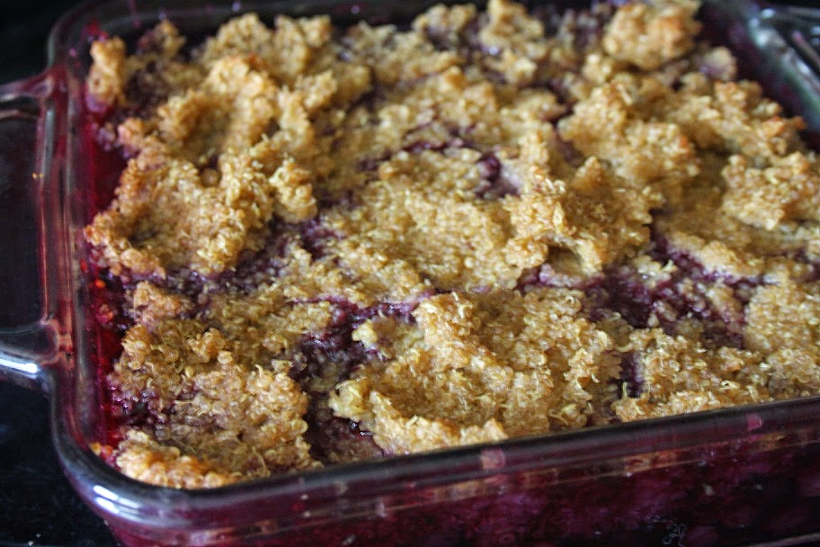 Blueberry Quinoa Cobbler