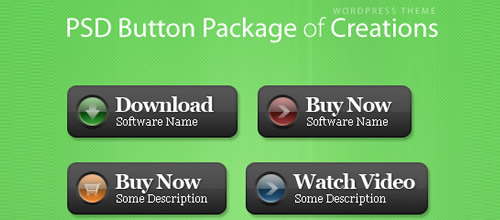 Creations PSD Button Package, Free For Commercial