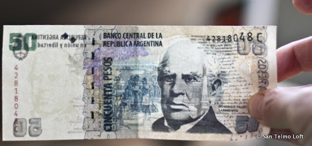 Fake 50 Argentine Peso Note
