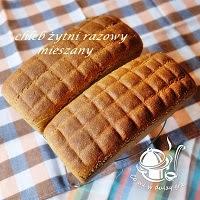 chleb żytni razowy- mieszany