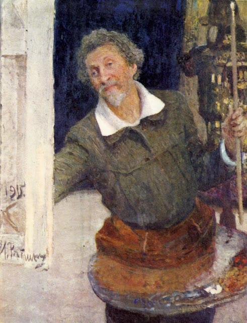 Ilia Repin - Self-portrait at work
