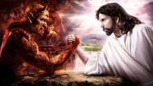 devil arm fantasy art jesus christ chuck norris satan heaven and hell 1366x768 wallpaper Wallpaper