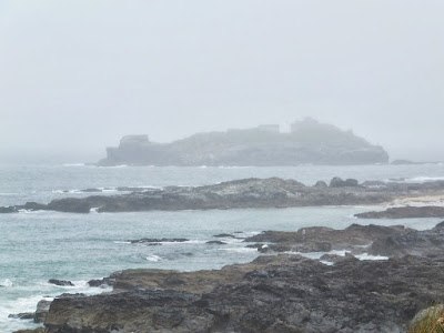 Godrevy Lighthouse lurking in the fog