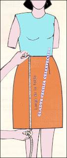 Tomando largo total de falda