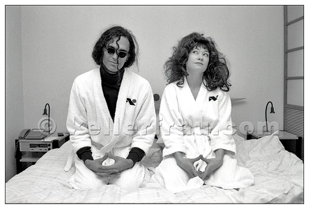 Bongwater (Ann Magnuson + Kramer) at the Hotel Nippon, Hamburg, 1991, photo by Moni Kellermann