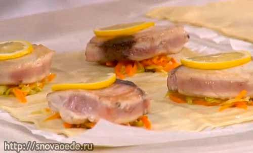 рыба в слоеном тесте