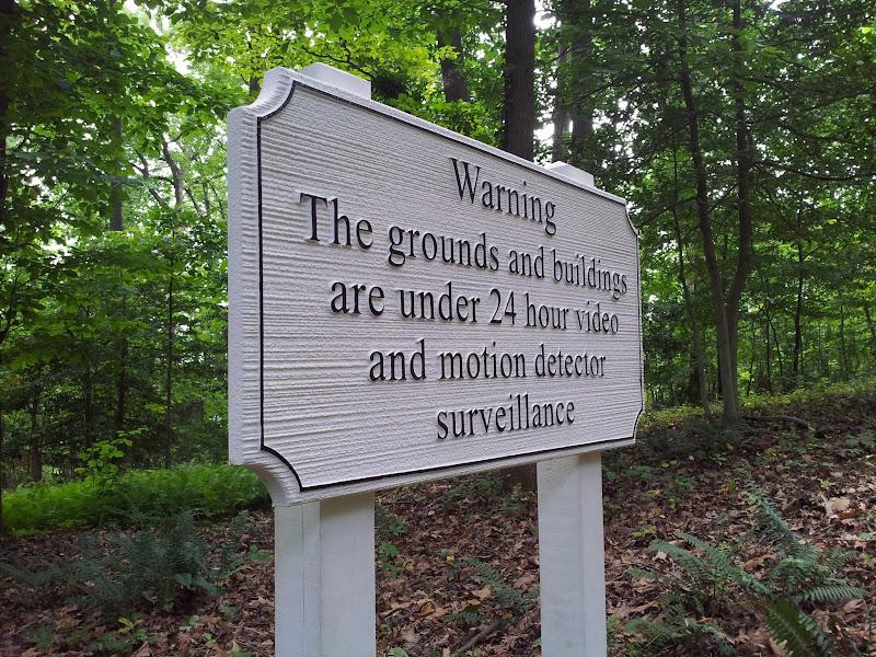sandblasted signs - warning
