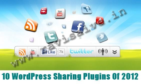 10 WordPress Sharing Plugins Of 2012