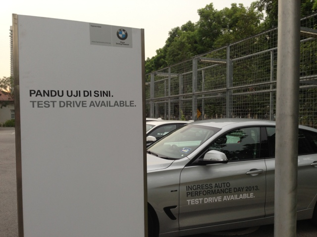 Test drive cars BMW F30 at Ingress Auto