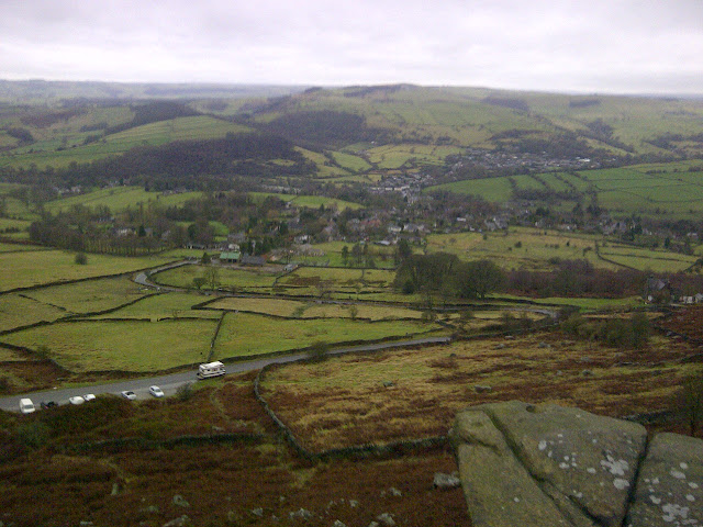 The view from Curbar Edge, English Peak District