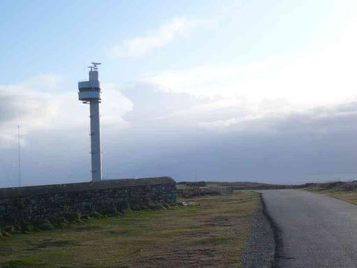 La tour du Stiff (pour surveiller le rail d'Ouessant)