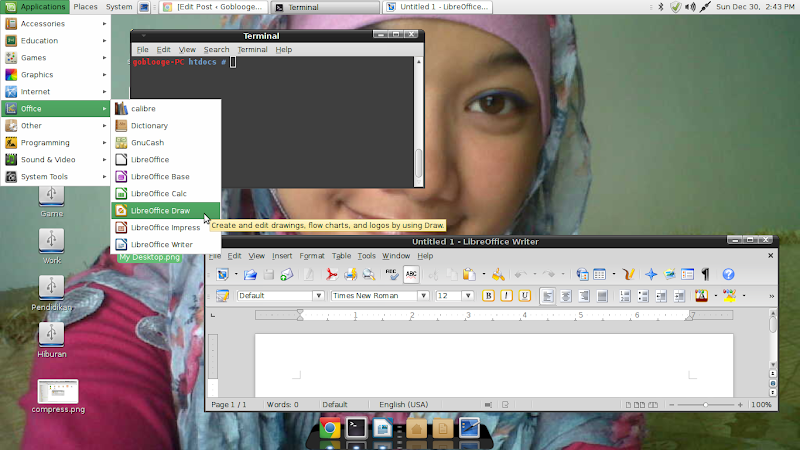 Desktop Linux Mint 14 : Nadia komputer saya