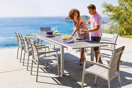 Table extensible pour jardin