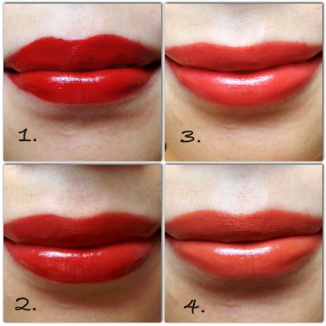 red coral orange lipstick lip colour