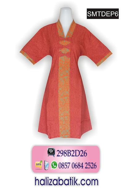grosir batik pekalongan, Baju Dress Batik, Batik Modern, Model Busana