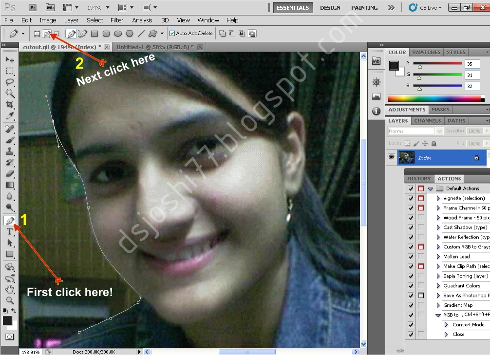 online printing24 make path remove change background from