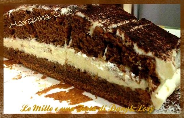 torta cioccolato e caffe ripiena con crema al mascarpone