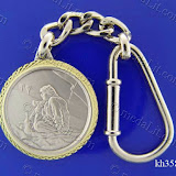 Sipping Arabian Coffee in a Desert. Traditional Arabic impressions. Silver plated minted brass medal 35 mm in diameter.