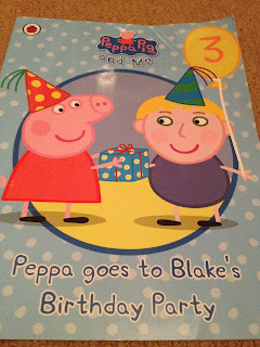 Front cover for Penwizard personalised Peppa Pig goes to your child's pirthday party story book