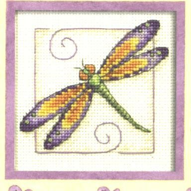 Dragonfly No2 Counted Cross Stitch Patterns And Charts