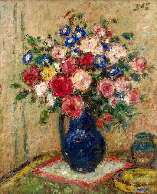 Georges d'Espagnat - Roses and Convolvulus