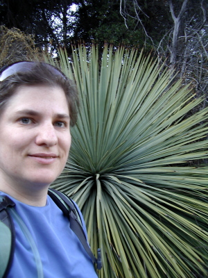 me in front of a huge yucca plant